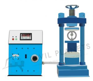 Compressive strength of concrete machine