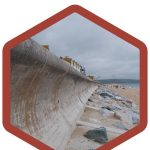 Curved Face Sea wall